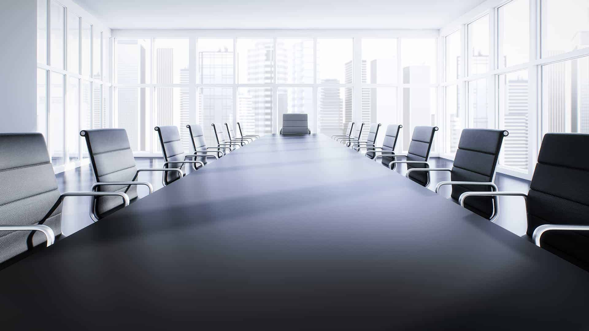 corporate table with chairs