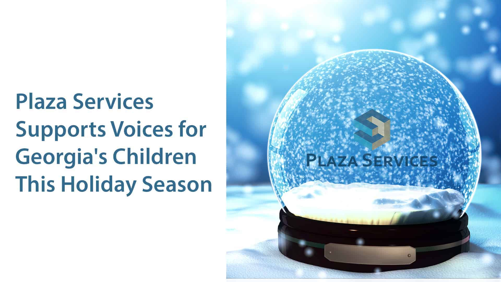 Christmas Snowglobe Snowflakes on Blue Background