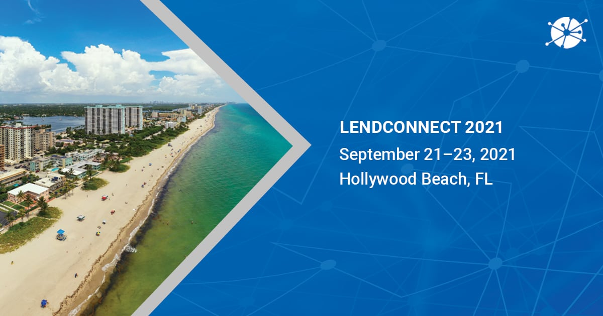 This is a image shot in a daylight of Hollywood Beach, FL pointing towards lendconnect 2021