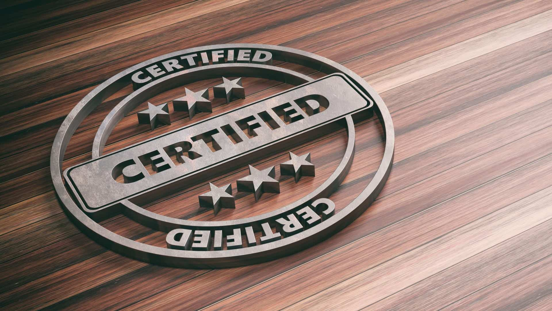 This is a Certification Symbol